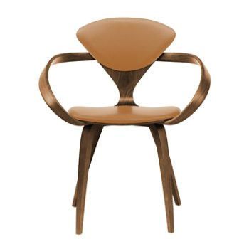 Shown in Natural Walnut Seat & Legs, Solid Walnut Arms, Sabrina Leather Monarch