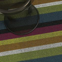 Bold Stripe Shag Indoor/Outdoor Mat (Multi/Big) - OPEN BOX