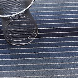 Block Stripe Shag Door Mat