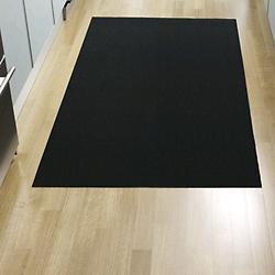 Solid Indoor/Outdoor Shag Floormat(Black/Big Mat) - OPEN BOX