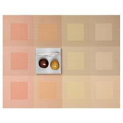 Engineered Squares Tablemat (Pale Orange) - OPEN BOX RETURN