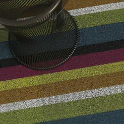 Bold Stripe Shag Door Mat (Multi Color) - OPEN BOX RETURN