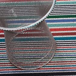 Mixed Stripe Shag Mat (Candy/Utility) - OPEN BOX
