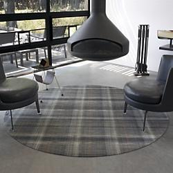 Plaid Round Floormat