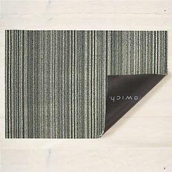 Skinny Stripe Shag In/Out Mat (Spearmint/Utility) - OPEN BOX