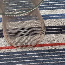 Mixed Stripe Shag Indoor/Outdoor Mat