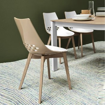 Shown in Glossy Nougat, Bleached Beech finish