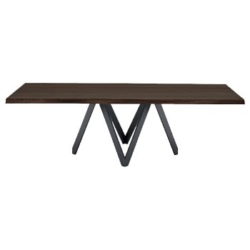 Shown in Dark Oak top, Matte Grey base finish, Large size