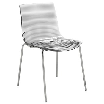 L'Eau Chair with Planet Large Glass Table