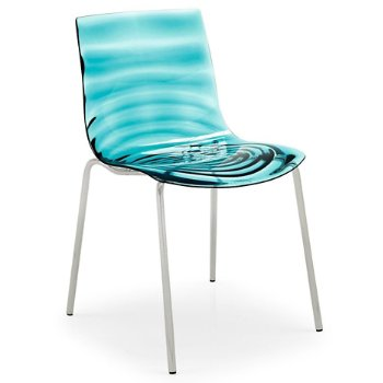 Shown in Transparent Aquamarine with Satin frame finish