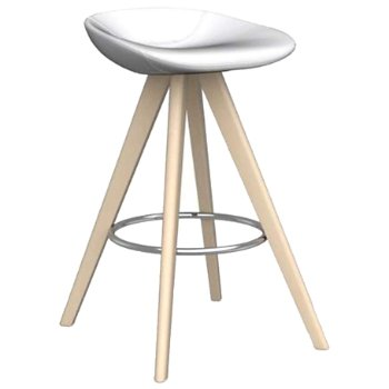 Shown in Skuba Optic White with Bleached Beech leg finish