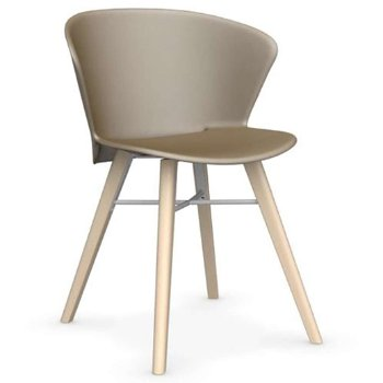Shown in Matte Nougat with Bleeched Beech leg finish with Matte Grey base