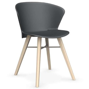Shown in Matte Grey with Bleeched Beech leg finish with Matte Taupe base