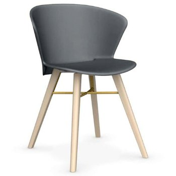 Shown in Matte Grey with Bleeched Beech leg finish with Matte Grey base