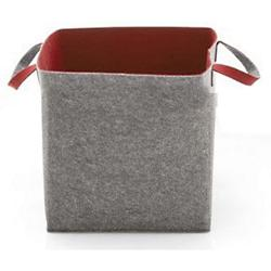 Elliot Storage Basket (Grey/Brick Red) - OPEN BOX RETURN