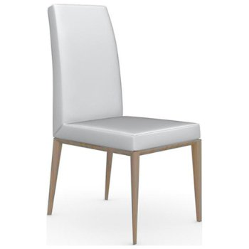 Shown in Natural finish, Leather Optic White fabric