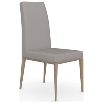 Shown in Natural finish, Leather Taupe fabric