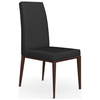 Shown in Wenge finish, Leather Black fabric