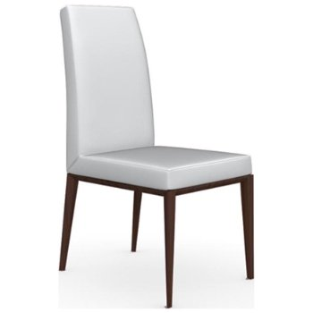 Shown in Wenge finish, Leather Optic White fabric