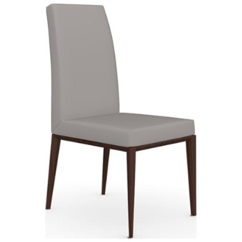 Shown in Wenge finish, Leather Taupe fabric