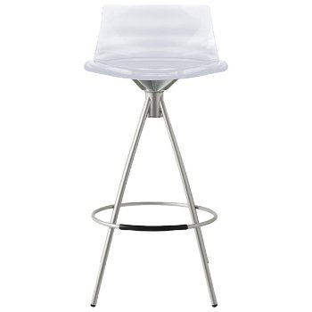 Shown in Transparent, Satin Finished, Counterstool