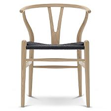 CH24 Wishbone Chair - Black Cord