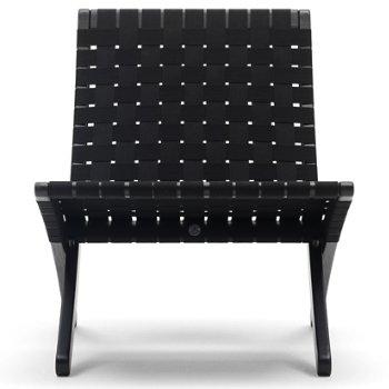 Shown in Black seat, Oak - Black finish