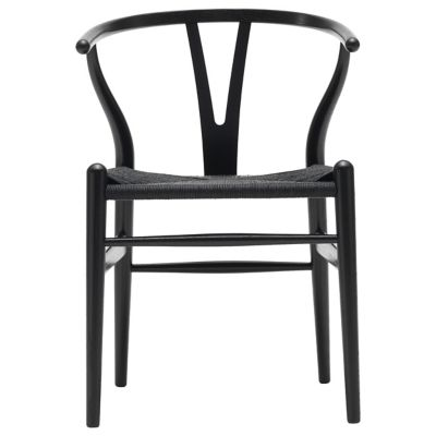CH24 Wishbone Chair   Black Edition By Carl Hansen At Lumens.com