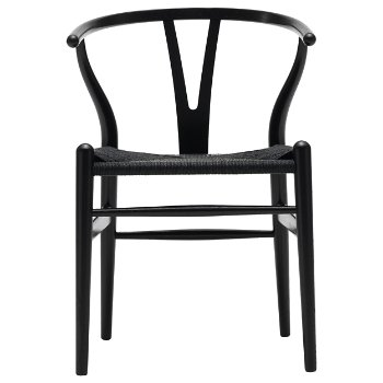 CH24 Wishbone Chair - Black Edition