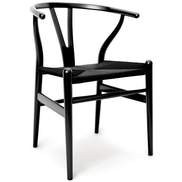 Ch24 Wishbone Chair Black Edition By, Black Wishbone Chairs Dining Room