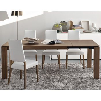 Sigma Extending Table with Sandy Skuba Chair