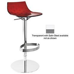 Ice Adjustable Barstool(Transparent/Steel) - OPEN BOX RETURN