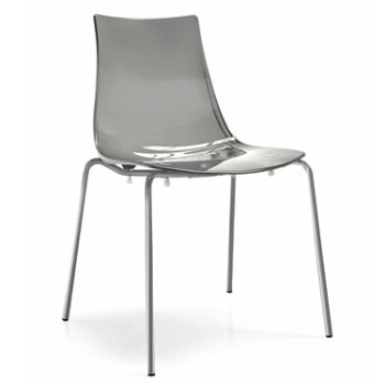 Shown in Satin Finished Steel finish, Transparent Smoke Grey