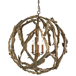 Driftwood Orb Chandelier (Natural) - OPEN BOX RETURN
