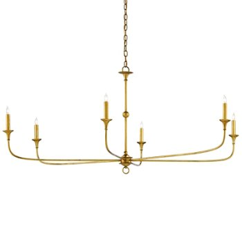 Shown in Contemporary Gold Leaf finish, 6 Light
