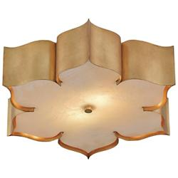 Grand Lotus Flushmount (Antique Gold Leaf) - OPEN BOX RETURN