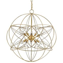 Zenda Orb Chandelier (Gold and Silver Leaf) - OPEN BOX