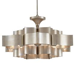 Grand Lotus Chandelier (Silver Leaf) - OPEN BOX RETURN
