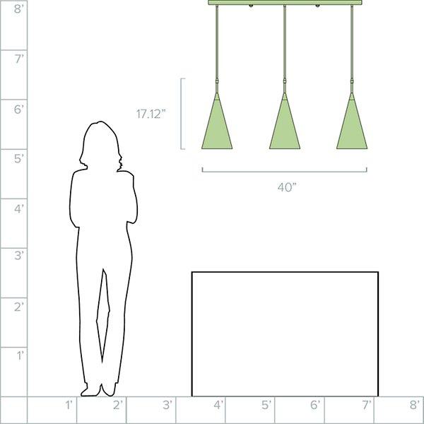 Baird 3-Light Linear Suspension