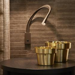 FlexiLED Leather Wall Light (Small/Bronze/Brown) - OPEN BOX