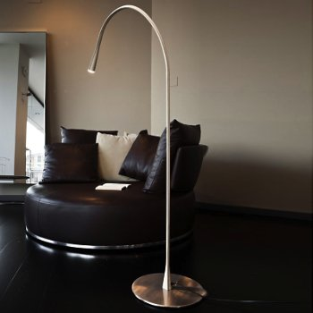 Shown unlit in Ivory Leather, Satin Nickel finish