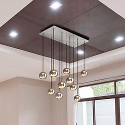 Kubric LED Multi-Light Pendant