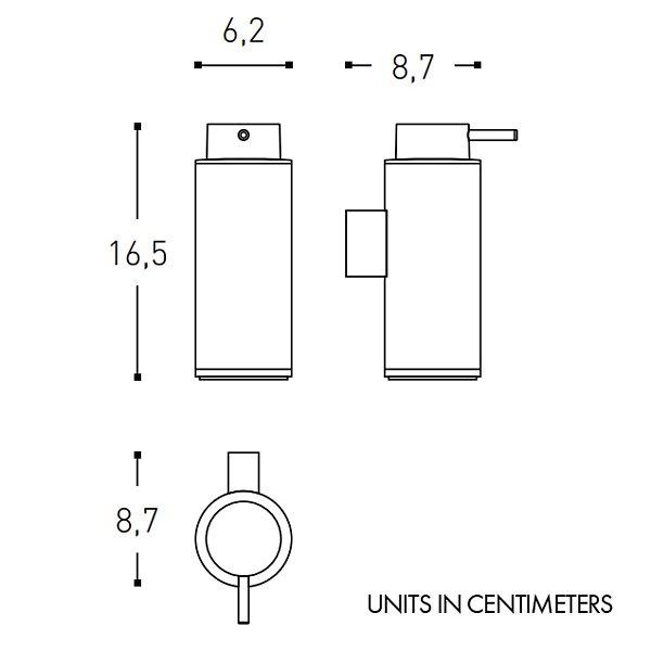 Black & White Wall-Mounted Soap Dispenser