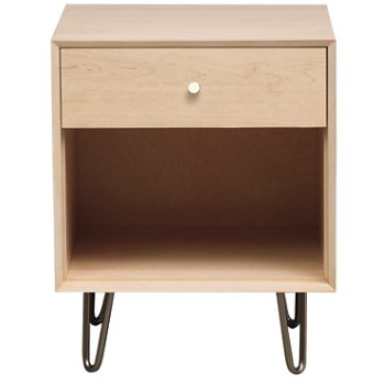 Canvas Nightstand - Metal Legs