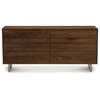 Canvas 6 Drawer Dresser - Metal Legs