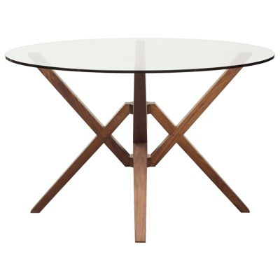 Exeter Round Glass Top Dining Table by Copeland Furniture at Lumens.com