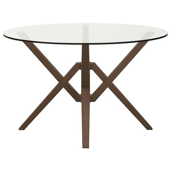 Exeter Round Glass Top Dining Table By Copeland Furniture At Lumens Com
