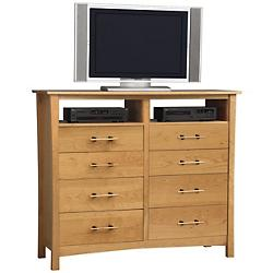 Monterey 8 Drawer Dresser and TV Organizer