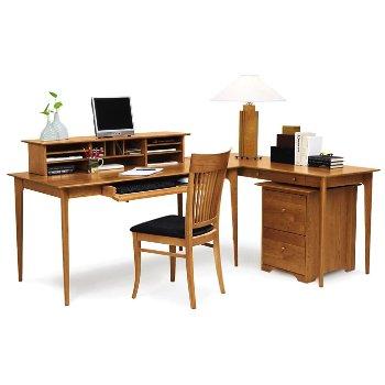 Sarah Desk Keyboard Tray with Sarah Desktop Organizer, Sarah Rolling File and Sarah Sidechair With Upholstered Seat