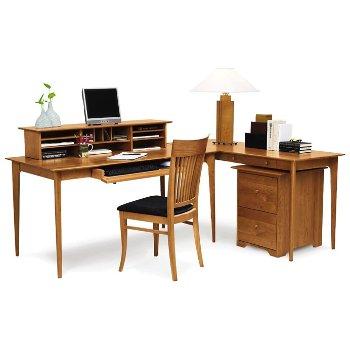 Sarah Secretary Desk with Sarah Return Desk and Sarah Rolling File